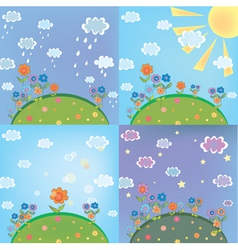 Landscape weather vector