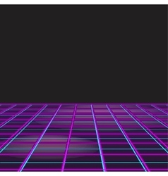 Retro style disco design neon background vector