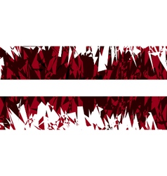 Flag of latvia vector