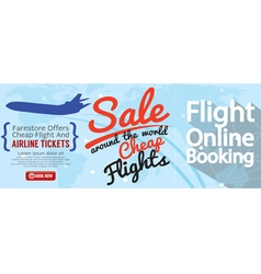 Flight online booking for sale 1500x600 banner vector