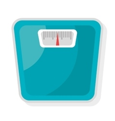 Blue weight balance graphic vector