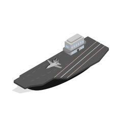 Ship with landing strip for airplanes icon vector