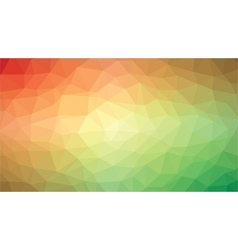 abstract low poly red green vector image vector image