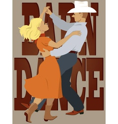 Barn dance vector