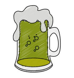 Beer jar celebration icon vector