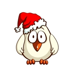 Chick In Santas Hat vector image vector image