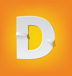 D capital letter fold english alphabet new design vector