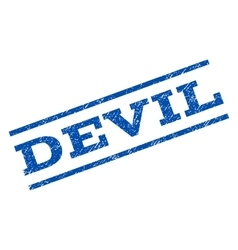 Devil watermark stamp vector