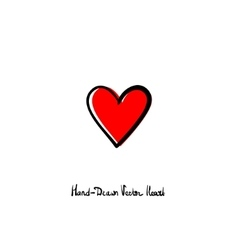 Hand-drawn heart icon Love relationships vector image vector image