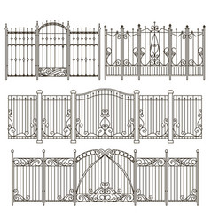 Iron gate and fence design with different vector