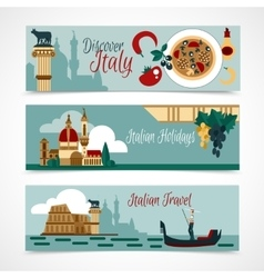Italy Touristic Banner Set vector image vector image
