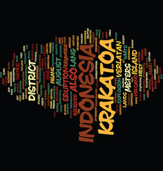 Krakatoa indonesia text background word cloud vector