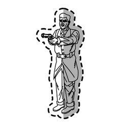Man cartoon with gun design vector