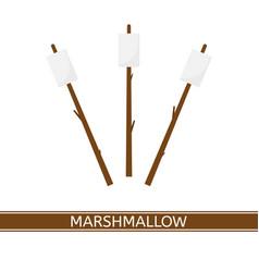 Marshmallow on stick vector