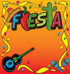 mexican fiesta party invitation vector image vector image