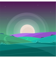 Night Cartoon Landscape vector image vector image