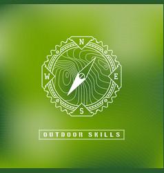 Outdoor label vector