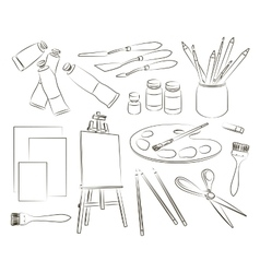 Painter icons set vector image vector image