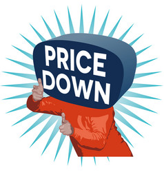 Price down man vector