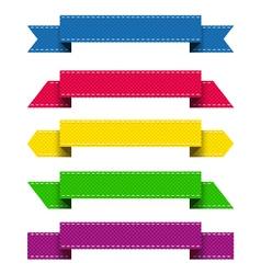 Ribbons 3 vector image