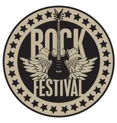rock festival vector image vector image