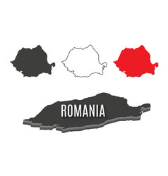 romania world map world geography vector image vector image