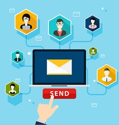 Running email campaign email advertising direct vector