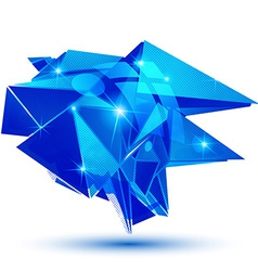 Sapphire textured plastic deformed flash model vector