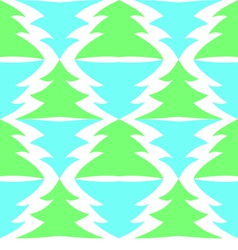 Seamless multicolored spruces isolated on white vector