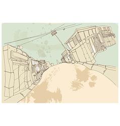 Townscape Sketch vector image vector image