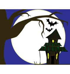 Halloween cottage vector