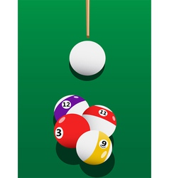 Billiards aiming vector