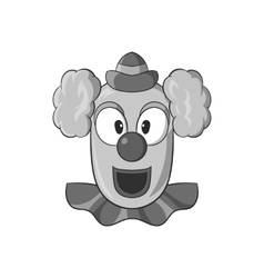 Clown face icon black monochrome style vector