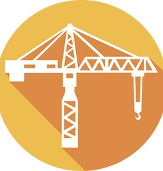 Building crane icon vector