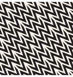 ZigZag Edgy Stripes Seamless Black and vector image