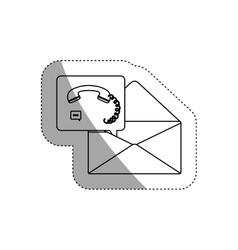 Isolated envelope and phone design vector