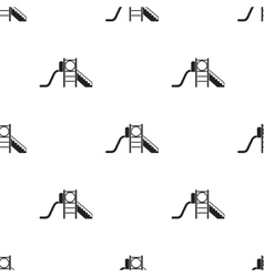 Playground slide icon in black style isolated on vector
