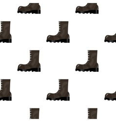 Army combat boots icon in cartoon style isolated vector