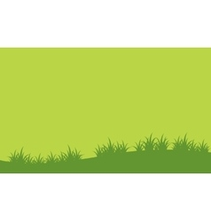 Landscape of green hill spring vector