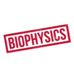 Biophysics rubber stamp vector image
