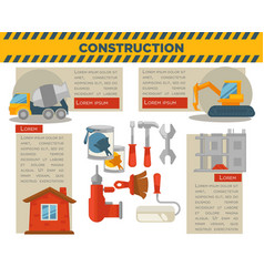 Construction and building infographics vector