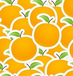 Group of oranges seamless background vector