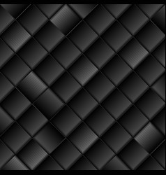 Abstract black tech squares background vector