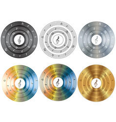 Musical disk vector image