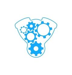 Gears inside engine vector image