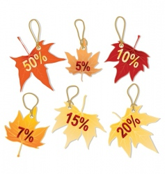 Separate autumn leaves discount vector