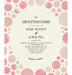 Retro wedding invitation vector