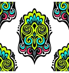 Damask seamless medallion vector image