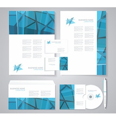 Corporate identity template with geometric vector
