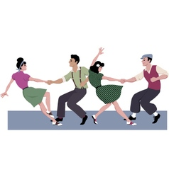 Lindy hop competition vector